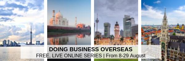 'Doing Business Overseas' Webinar Series