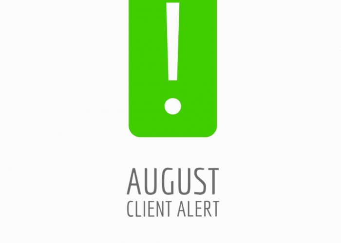 August Client Alert Newsletter