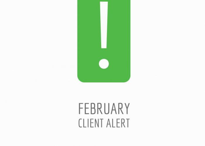 February Client Alert
