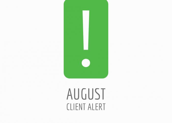 August Client Alert