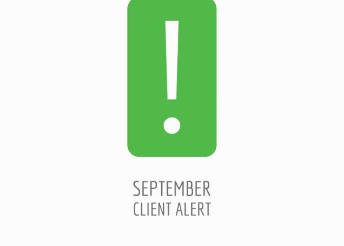 September Client Alert